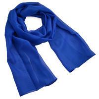Šála vzdušná - modrá jednobarevná