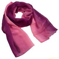 Šála vzdušná - fialovorůžové ombre