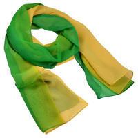 Šála vzdušná - zelenožluté ombre