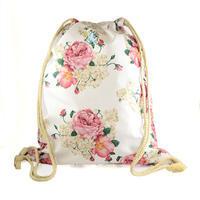 Látkový vak 239lv004-01.23 - bílý s růžovými květinami
