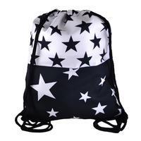 Látkový vak 239lv009-70.01a - černobílý s hvězdami