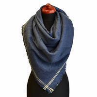 Blanket square scarf - blue