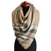 Blanket square scarf - beige