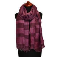 Classic cotton scarf - violet
