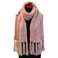 Maxi pletená šála - růžová