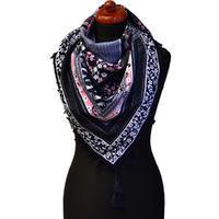 Maxi šátek - modrý se vzorem c5fef2053c