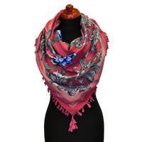 Maxi šátek - růžový se vzorem