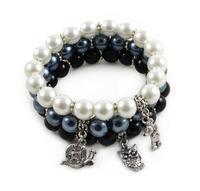 Bracelet set - black&white contrast