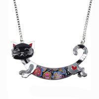 Náhrdelník - barevná kočka