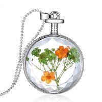 Náhrdelník 25ac002-11.50 - kytky ve skle