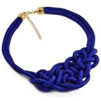 Náhrdelník 34ac002-30 - modrý mořský uzel