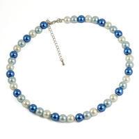 Náhrdelník krátký 34bm002-30.01 - modrobílý