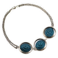 Necklace - bluegreen