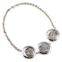 Náhrdelník krátký - stříbrný
