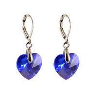 Náušnice Swarovski Elements Srdce 713akt6228-14-30 - modré