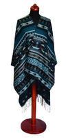 Pončo 69p006-38 - modrozelené s potiskem