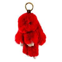 Přívěsek na kabelku - klíčenka kr495-20 - červený králík