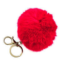 Přívěsek na kabelku - klíčenka prq125-20a - červený
