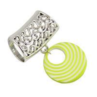 Přívěsek na šálu up100-51.01a - pruhovaný zelený kroužek