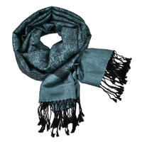 Classic cashmere scarf - bluegrey