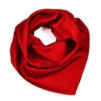 Šátek saténový 63sk001-22 - tmavě červený