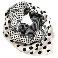 Small neckerchief 63sk003-01.70 - black and white