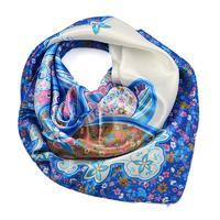 Small neckerchief 63sk004-01.30 - light blue and white