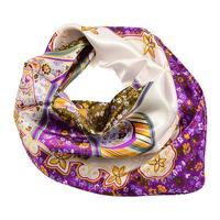 Small neckerchief 63sk004-01.33 - violet and white