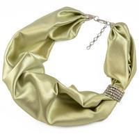 Šátek-náhrdelník - zelený