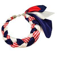 Jewelry scarf Florina - blue and red
