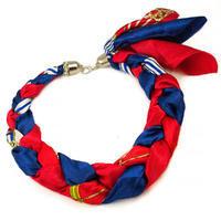Šátek-náhrdelník Florina - modrorůžový