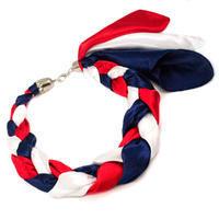 Šátek-náhrdelník Florina - modročervený