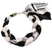 Jewelry scarf Florina - black and white