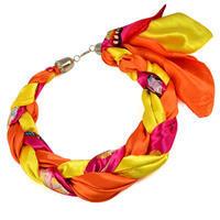 Šátek-náhrdelník Florina - oranžový