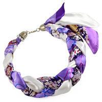 Šátek-náhrdelník Florina 299flo009-35.01 - fialovobílý