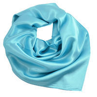 Šátek saténový 63sk001-31a - bledě modrý