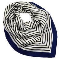 Šátek - bílomodrý s pruhy