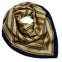 Šátek - zlatomodrý s pruhy