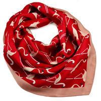 Šátek - červené plameňáci