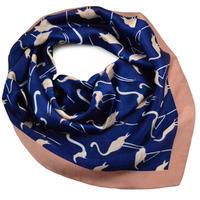 Šátek - modré plameňáci