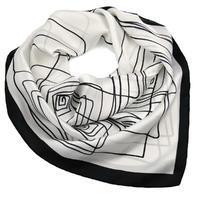 Šátek - bíločerný