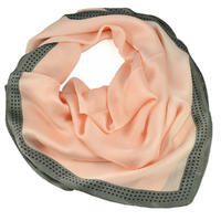 Square scarf- pink and grey