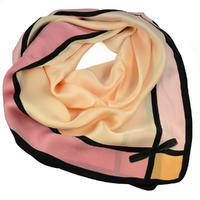 Square scarf- pink and peach