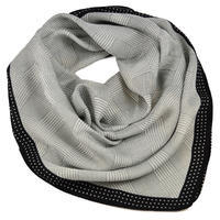 Square scarf- grey and black
