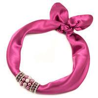 Jewelry scarf Stewardess - old rose