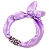 Šátek s bižuterií Letuška - fialová