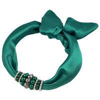 Jewelry scarf Stewardess - dark bluegreen