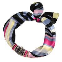 Jewelry scarf Stewardess - multicolor stripes