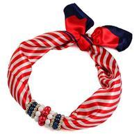 Jewelry scarf Stewardess - red and white