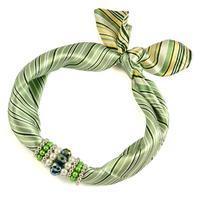 Jewelry scarf Stewardess - green stripes
